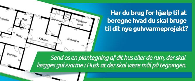 Få hjælp til beregning af dit nye gulvvarmeprojekt