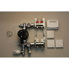 Gulvvarmestyring komplet system 2 kreds analog