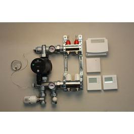 Gulvvarmestyring komplet system 2 kredse digital