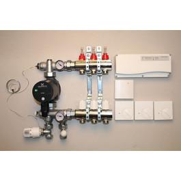 Gulvvarmestyring komplet system 3 kredse analog