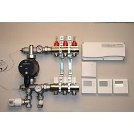 Gulvvarmestyring komplet system 3 kredse digital