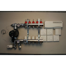 Gulvvarmestyring komplet system 5 kreds analog