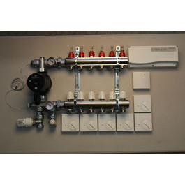 Gulvvarmestyring komplet system 6 kreds analog