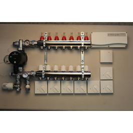 Gulvvarmestyring komplet system 7 kreds analog