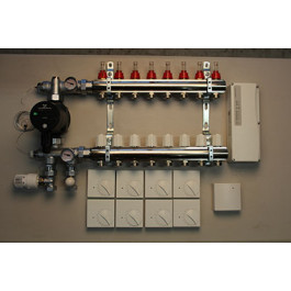 Gulvvarmestyring komplet system 8 kreds analog