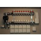 Gulvvarmestyring komplet system 10 kreds analog