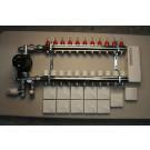 Gulvvarmestyring komplet system 11 kreds analog