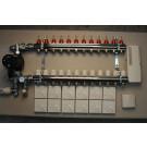 Gulvvarmestyring komplet system 12 kreds analog