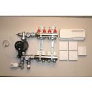 Gulvvarmestyring komplet system 4 kreds analog