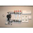 Gulvvarmestyring komplet system 4 kreds digital