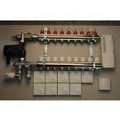 Gulvvarmestyring komplet system 9 kreds analog