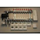 Gulvvarmestyring komplet system 9 kredse digital